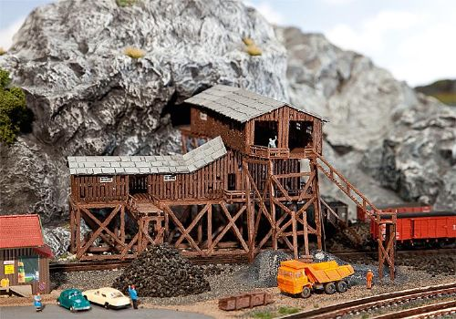 N Scale Coal Mine http://www.osbornsmodels.com/faller-222205-n-scale-old-coal-mine-16302-p.asp